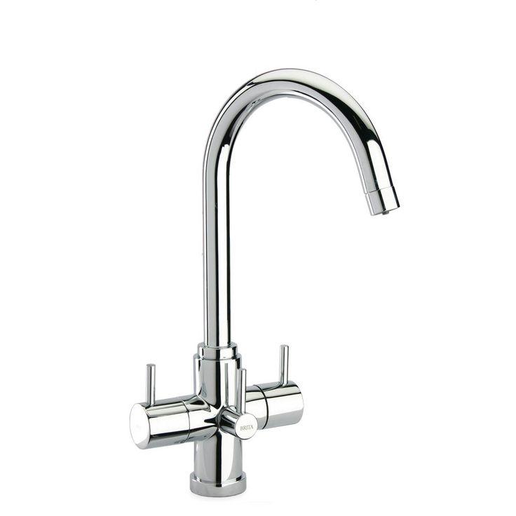 Brita Torlan Chrome 3 Way Ambient & Water Filter Kitchen Sink Mixer Tap