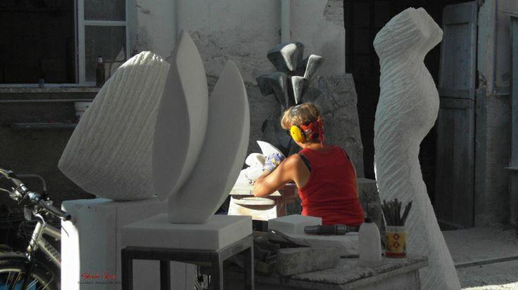 Inger Sannes at work