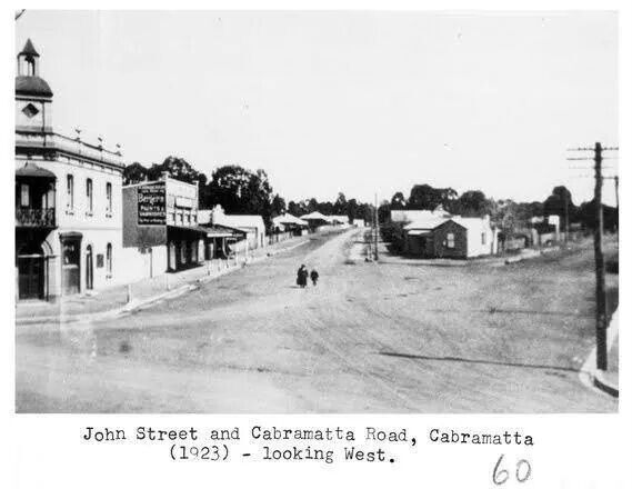 John St and Cabramatta Rd,Cabramatta in 1923.A♥W