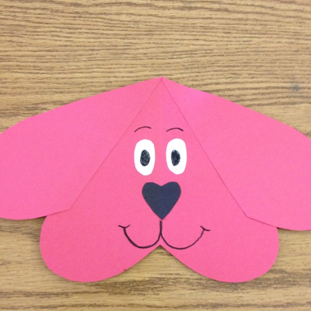 Clifford the Big Red Dog Valentine: There's no bones about it, you're a top-dog Valentine! Made all out of hearts.