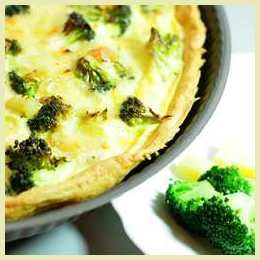 celebrate the tour de France with broccoli and cheese quiche