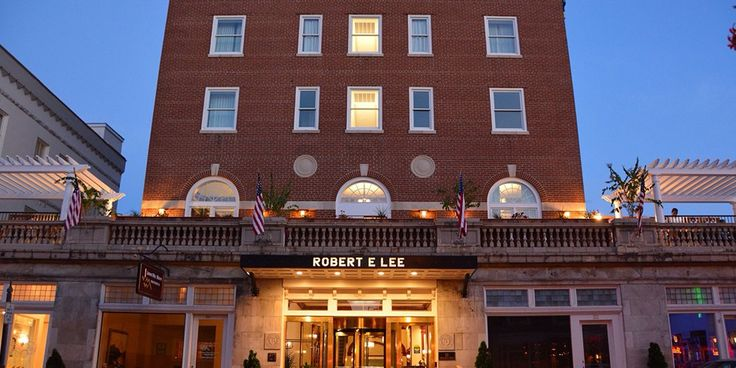 Robert E. Lee Hotel, downtown Lexington.  Near the George C. Marshall Museum and Research Library