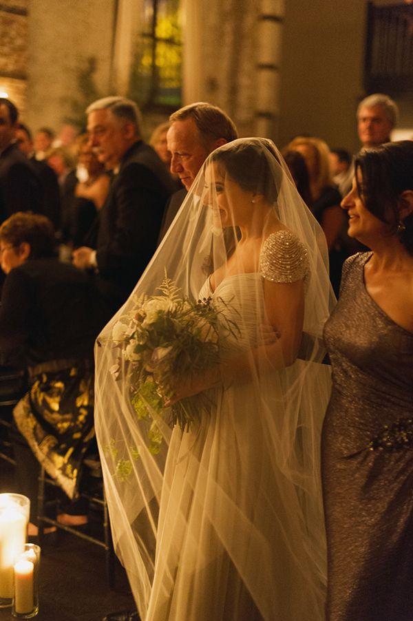 Autumn Wedding at The Green Building | Lauren + Jason. That veil!