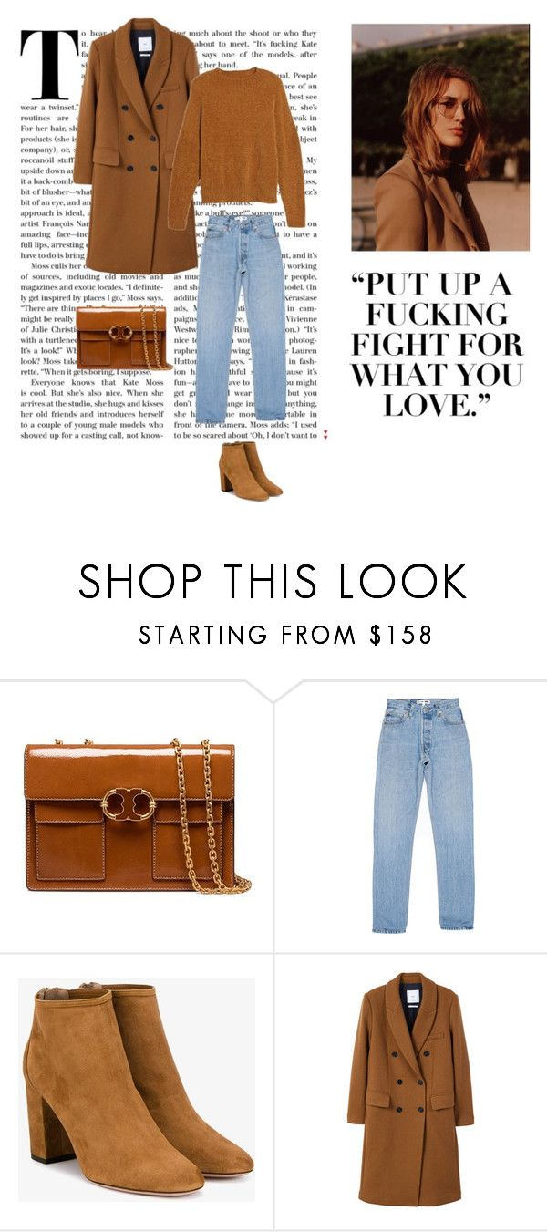 """""""Brown on brown"""" by dorey on Polyvore featuring Tory Burch, Aquazzura, MANGO and BP."""