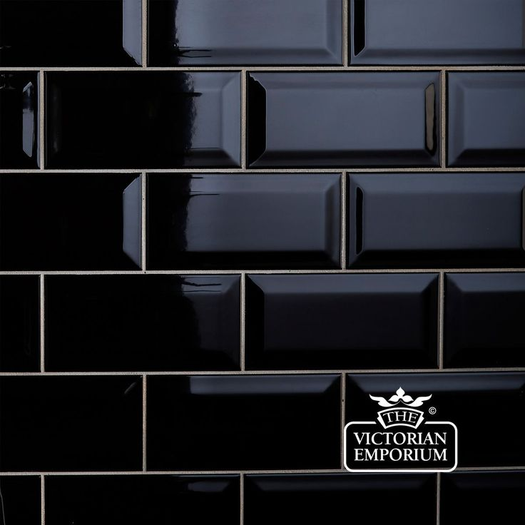 Bevel wall tiles - 100x200mm black, For my fireplace makeover?