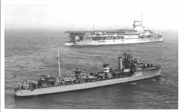 HMS Glorious aircraft carrier HMS Westminster destroyer foreground Casualty list 15th - 30th June 1940