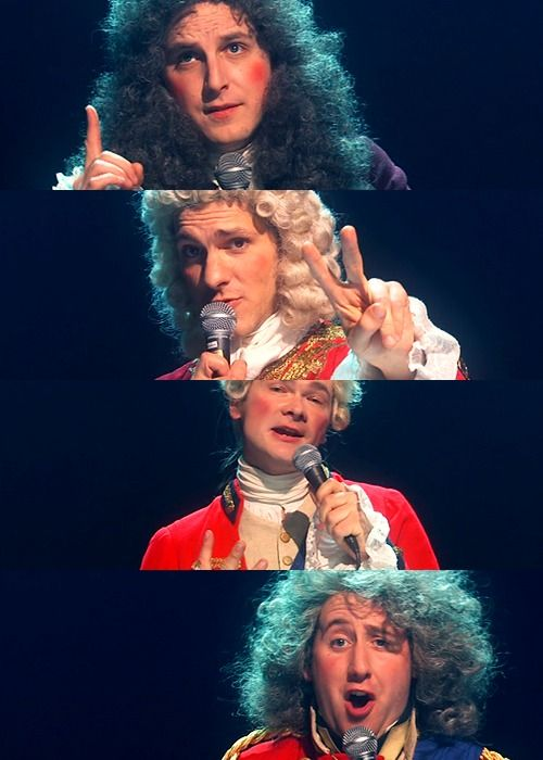 Horrible Histories: George I (Ben Willbond) George II (Mathew Baynton) George III (Simon Farnaby) George IV(Jim Howick)  #Born2Rule