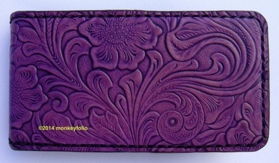 Galaxy S5 S4 S3 Flip-Case Phone Wallet - Floral-embossed