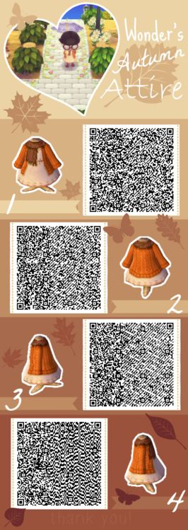 Autumn Attire - Animal Crossing New Leaf QR Code