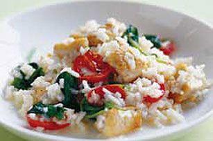 Chicken and Spinach Risotto recipe