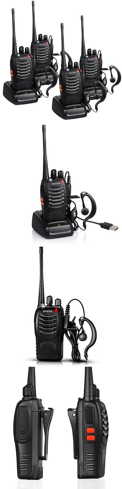 Walkie Talkies Two-Way Radios: Proster 5W Uhf 400-470 Mhz Ctcss Dcs 16-Channel Two Way Radio Walky Talky With 2 BUY IT NOW ONLY: $54.25