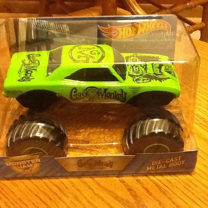 #transformer hot wheels monster jam 124 gas monkey truck super bee 2017