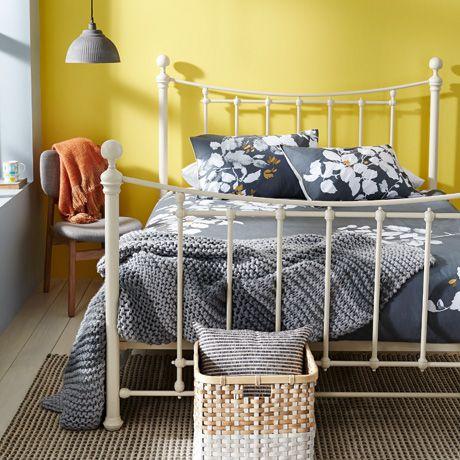 Agnes queen bed in Cream was $899, NOW $699