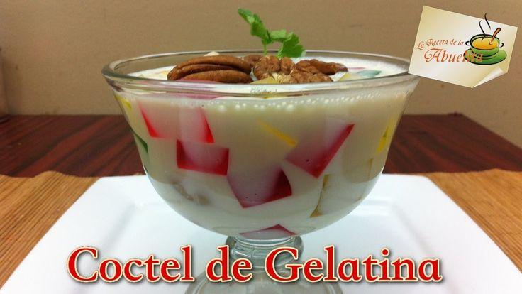Receta de coctel de gelatina, postre facil y económico para tus fiestas