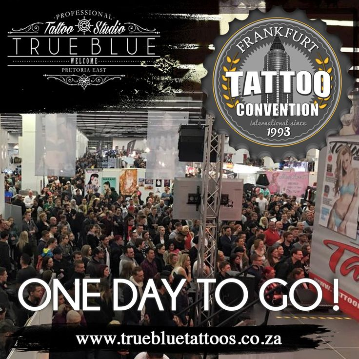 We are in Frankfurt! Kicking off the 2017 International Tattoo Convention tomorrow! Watch this space! True Blue Professional Tattoo Studio