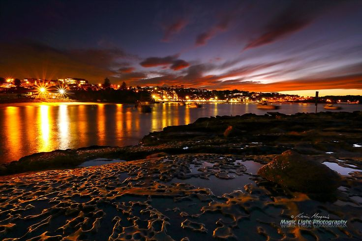 Terrigal Haven Night May 2016 - Terrigal by night. Shot from The Haven after sundown.