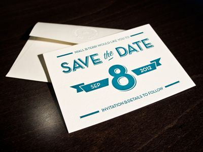 Dribbble - Save The Date Cards by Niall Staines