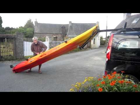 How to load kayak on car by yourself - YouTube