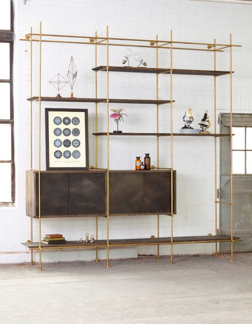 Collector's Shelving System is a minimalist design created by Pennsylvania-based designer Amuneal. Influenced by the mechanical age and the age of discovery, The Collector's Shelving System draws inspiration from Amuneal's in-house archive of industrial and scientific artifacts. (2)