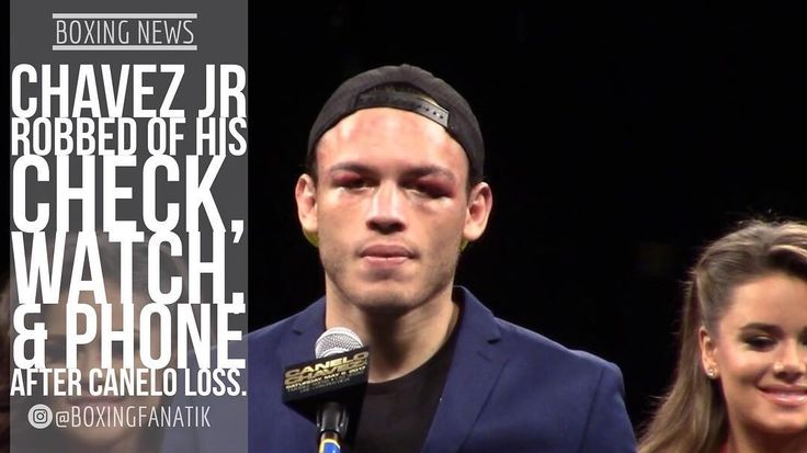 "According to the wife of Julio Cesar Chavez Jr., the boxer was manipulated and robbed in the aftermath of his twelve round decision loss to to Saul ""Canelo"" Alvarez on Saturday night from the T-Mobile Arena in Las Vegas. . On Thursday afternoon, several videos surfaced on the internet, which showed Chavez Jr. highly intoxicated and hanging out with several women - who were  wearing revealing outfits - in a hotel room. . His wife Frida told ESPN Deportes that her husband was the target of a…"