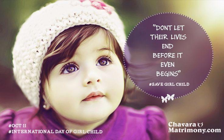#InternationGirlChildDay #SaveGirlChild
