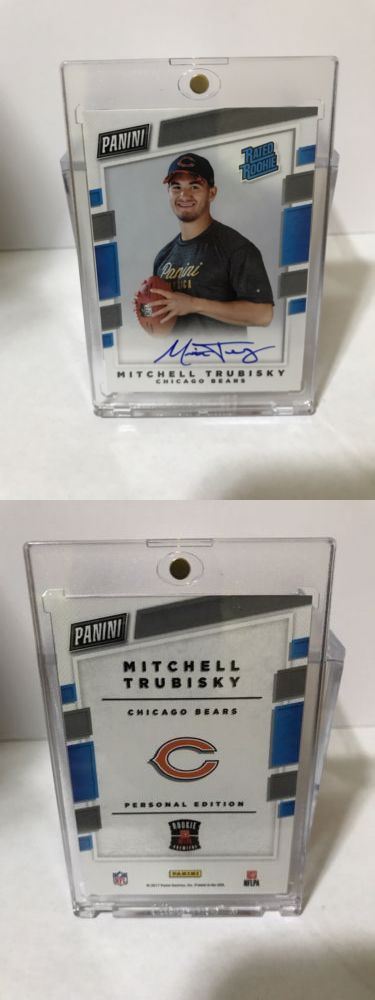 Football Cards 215: 2017 Mitchell Mitch Trubisky Panini Rated Rookie Auto Rc Autograph Bears Qb Rare -> BUY IT NOW ONLY: $180 on eBay!