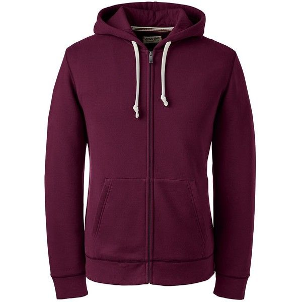 Lands' End Men's Tall Long Sleeve Sweats Full-zip Hoodie - Serious ($60) ❤ liked on Polyvore featuring men's fashion, men's clothing, men's hoodies, red, mens hoodies, mens tall hoodies, mens hooded sweatshirts, mens full zip hoodies and mens red hoodie