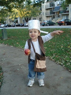 2304 Miles: HallOween:  Johnny Appleseed.  Halloween costume for any age kid.  Historical character.