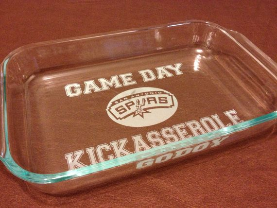 San Antonio SPURS    GAME DAY Kickasserole Baking by UnCorkdArt, $28.00 SUPER COOL!!! :]]