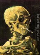 Skull With Burning Cigarette  by Vincent Van Gogh