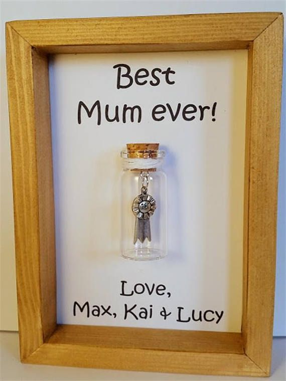 Best mum award, Mum award, Mum gifts, Personalised gift for mum, Mum birthday gift. Add names or your own message.