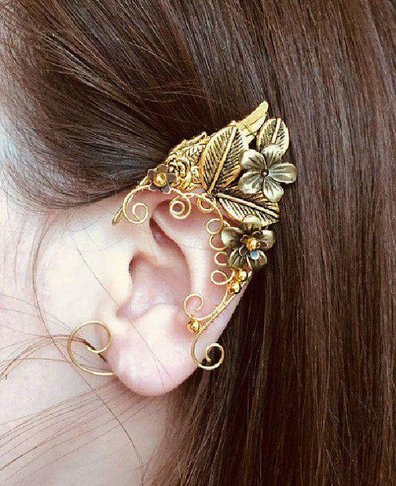 Elven ears (a pair). Earcuffs, Elf ears, cosplay fantasy ,decoration for ears , elven ear, ear cuff ,elvish earring, elf ear