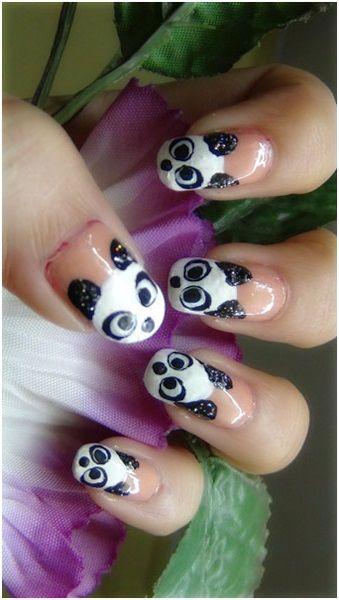 Best 25 panda nail art ideas on pinterest panda bear nails how to do nail art at home prinsesfo Image collections