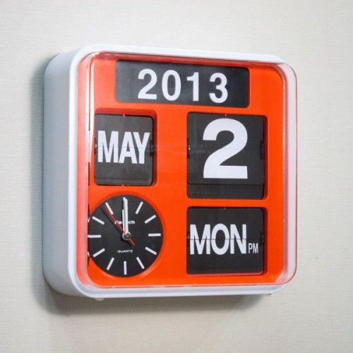 Mini Flip Clock in Retro Orange Color ( with calendar function ) by fartech