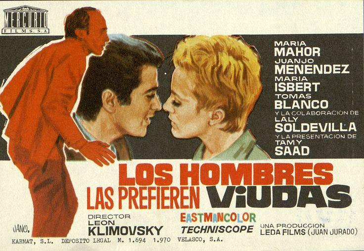356.     JANO. Los hombres las prefieren viudas. Dirigida por  León Klimovsky. Madrid: Karmat, 1970.  #ProgramasdeMano #BbtkULL #CineEspañol #DiadelLibro2014