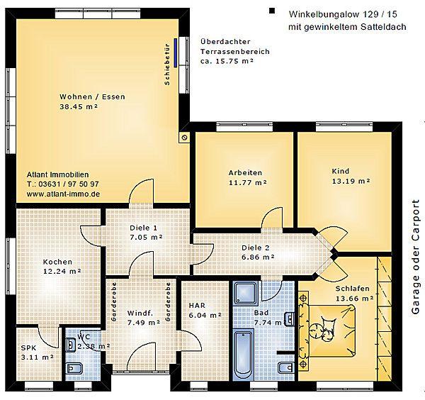 die besten 25 winkelbungalow grundriss ideen auf On grundriss bungalow 150 qm