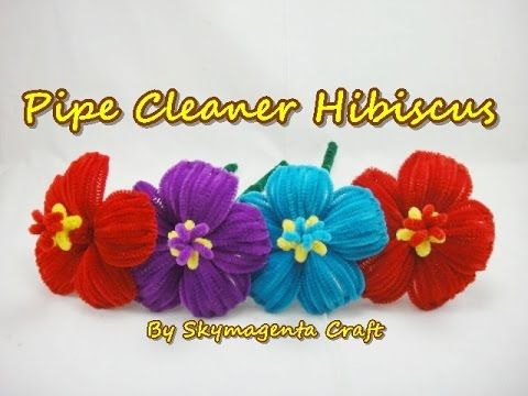Diy fun craft tutorial : Pipe cleaner lily手工教學 : 毛根百合花 - YouTube