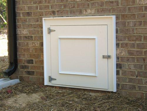 33 best crawl space doors images on pinterest crawl spaces crawl space door and vent covers for Exterior basement access doors