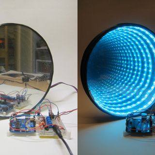 Arduino-controlled RGB LED Infinity Mirror checkout our video DIY https://www.youtube.com/watch?v=e-rdgB_19Fg
