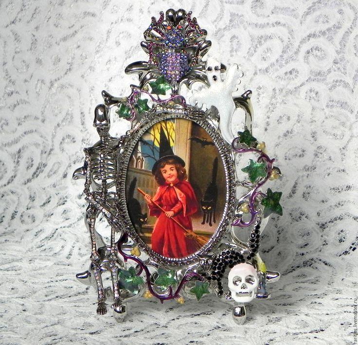 Купить Фоторамка Жуткий Хэллоуин,Kirks Folly,фотографии,сказка,фото,мистика - интерьерное украшение