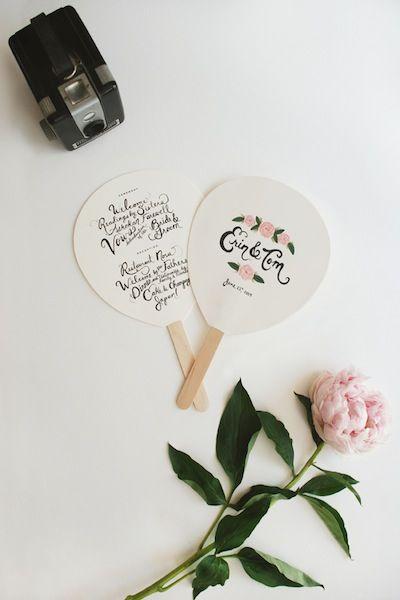 Something like these... That church is going to be hotttt. Wedding Fans  DIY Wedding Ideas for Small Summer Weddings @Bethany Shoda Shoda Shoda Priest