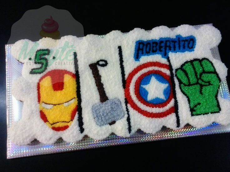 Avengers pull apart cake Pastel Avengers