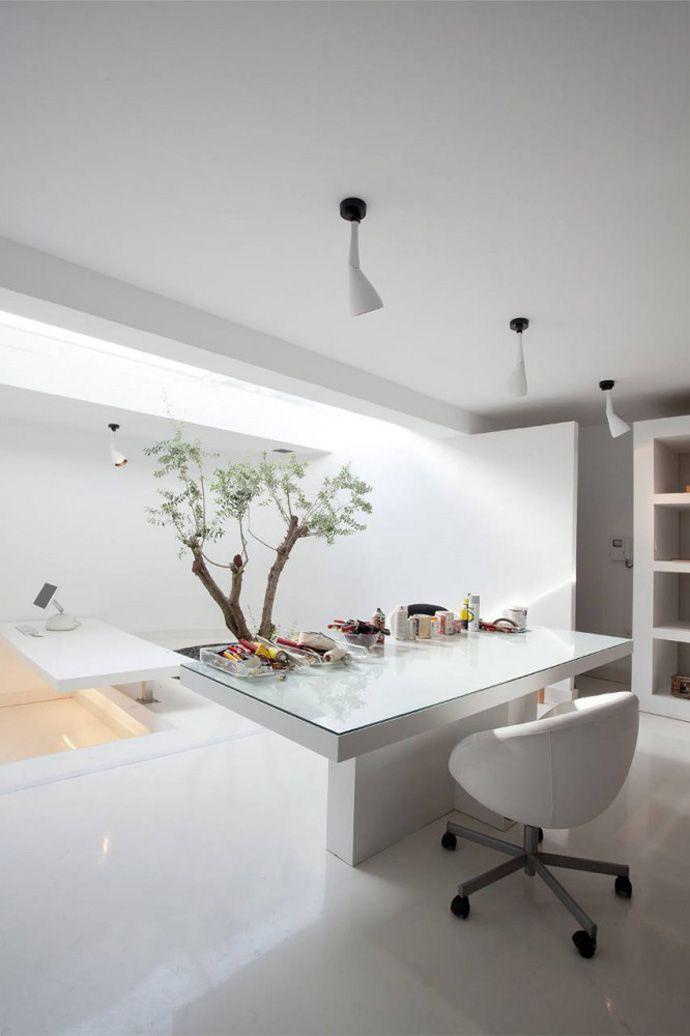 Luxury Greek Villa White Minimalist Home Office   Home Directory