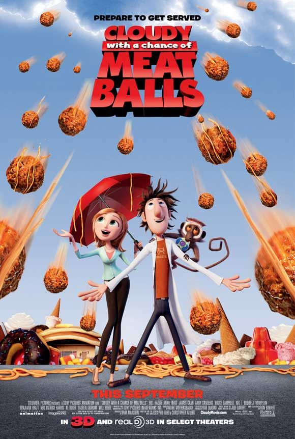 Cloudy with a Chance of Meatballs 27x40 Movie Poster (2009)
