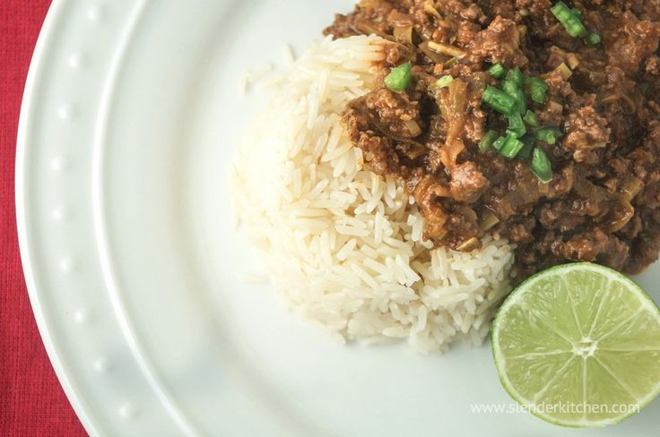 Sunday Slow Cooker: Thai Curry Ground Beef - would be awesome wrapped up with some cauli rice in a boiled cabbage leaf.