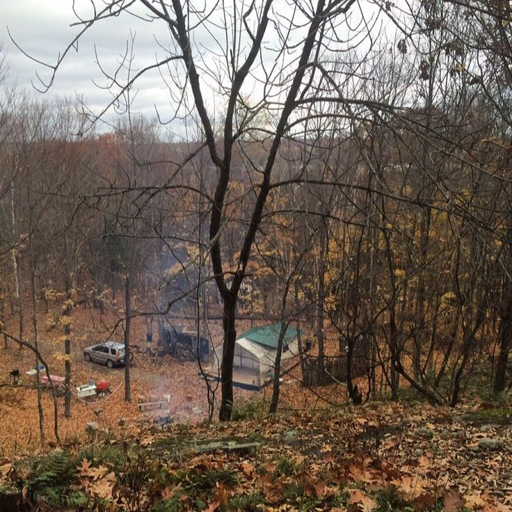 This photo was taken November 3 2016. It was the end of another season and I was looking down on a deck that was slowly ripping apart and becoming a safety hazard a shed that was buckling under the weight of the wood a bathroom area with no water and a kitchen tent that had just been destroyed by 36 hours of nonstop rain. The only structure that was completed correctly was my outhouse. So at the end of year 3 I had successfully built a shit house. I mean that literally and metaphorically…