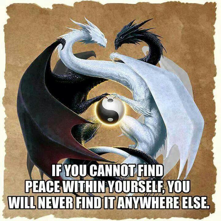 Se non riesci a trovare la pace dentro di te, non la troverai mai da nessun altra parte.