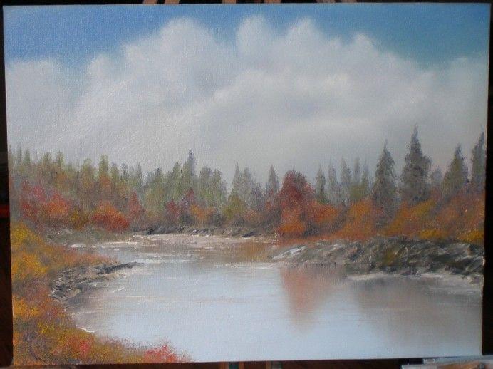 Oil seascape landscape painting