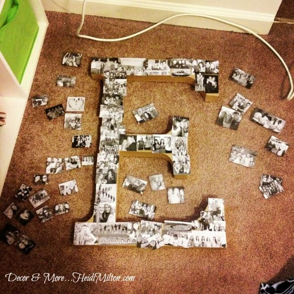 I love this idea.   Hometalk :: DIY Monogram Photo Collage