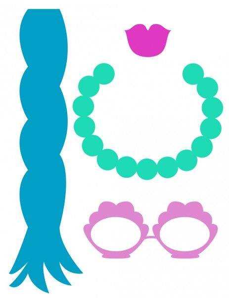 mermaid photo booth props sunglasses necklace
